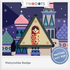 I found my way to the secret hidden insde and earned my Matryoshka Badge - playtwo.do/ts #twodots