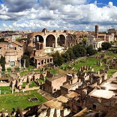 View from Palatine Hill. Rome, Italy   ➡500px.com/v_art  ➡v--art.tumblr.com #Padgram