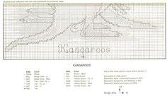 Schema punto croce Canguri 3