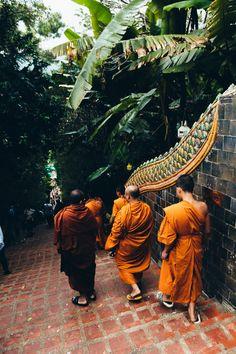 Monks in Krabi, Thailand Krabi Thailand, Louis Vuitton, Louis Vuitton Wallet, Louis Vuitton Monogram