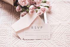 Wedding Stationery - Wedding - Blush - Bridal - RSVP - Design - Invite - Invitation - Bride - Event - Flowers - Pretty - Photography - Graphic Design Wedding Blush, Blush Bridal, Invite, Invitations, Wedding Stationery, Rsvp, Place Card Holders, Graphic Design, Photo And Video
