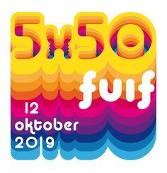 One Giant Leap. Logo 5X50 FUIF by Hilda Groenesteyn / studioHILLE © 2019 #5X50 #5X50fuif Logo, Studio, Design, Logos, Studios, Environmental Print