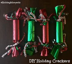 Super Easy DIY Christmas Crackers. Step-by-step tutorial. #HolidayMoments @costco [ad]