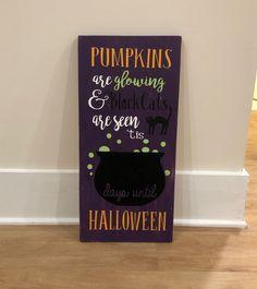 Small Chalkboard Signs, Chalkboard Paint, Halloween Chalkboard, Days Until Halloween, The Black Cauldron, Vinyl Crafts, Grandkids, Cool Kids, Cricut