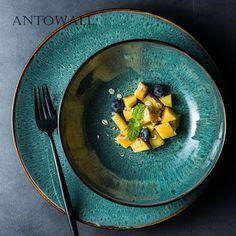 Ceramic Tableware, Porcelain Dinnerware, Ceramic Pottery, Kitchenware, Steak Plates, Green Plates, Pasta Dishes, Dinner Plates, Kitchens