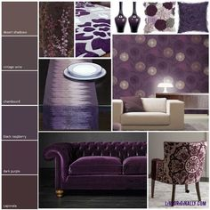 Love all these individual decorating elements in different shades of purple/plum #interiors #decor