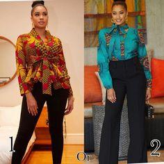 Ankara Tops Tuesday 1 or 2 guys? got you covered African Fashion Ankara, Latest African Fashion Dresses, African Print Fashion, Africa Fashion, African Wear, African Lace, African Prints, African Style, African Attire