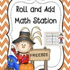 FREE math station - addition of 3 dice to 18