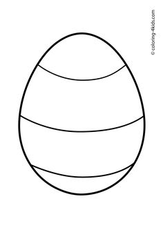 Printable Simpleshapes Egg Coloring Pages