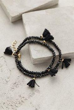Fluttered Tassel Wrap Bracelet