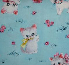 Love this vintage fabric