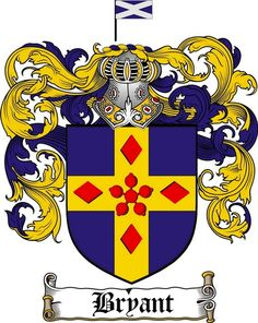 bryant family crest bryant coat of arms gifts available at WWW.4CRESTS.COM #heraldry #family #crest #shield #crests #shields #genealogy #coatofarms