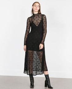 Imagem 1 de VESTIDO COMPRIDO CROCHÉ da Zara