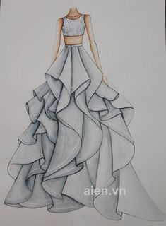 ✔ Fashion Design Sketchbook Outfit Source by maureenberning fashion drawing Dress Design Drawing, Dress Design Sketches, Dress Drawing, Fashion Design Drawings, Fashion Sketches, Dress Designs, Fashion Drawing Dresses, Fashion Illustration Dresses, Drawings Of Dresses