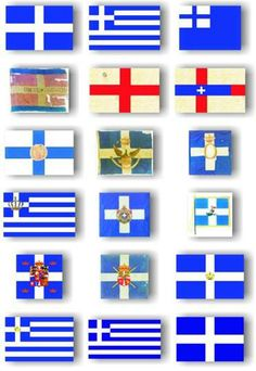 Historical Greek flags Mykonos, Greece Flag, Patriotic Symbols, Macedonia Greece, Greece Photography, Greek History, Greek Art, Flags Of The World, Tips