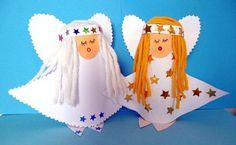 DIY CRAFT ** Toilet paper rolls ** Christmas Angels ..Site is in German. How to Link www.wunderbare-enkel.de/weihnachten-basteln/1388/engel-aus-toilettenpapierrolle-und-zeitungspapier