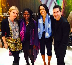 Ethical fashion launches at H&M with Studio189 Conscious Co and the Giving Keys.  Rosario Dawson, Todd Krim, Elizabeth Schaeffer Brown and Abrima.