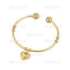 pulsera con dije corazon dorado acero inoxidable para mujer -SSBTG924361