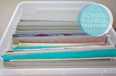 storage for beloved kid school crafts