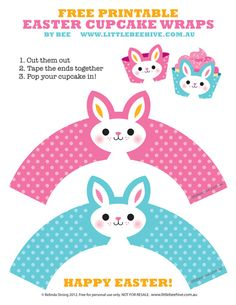 So cute! Now all I need is a yummy cupcake recipe and I'll be ready for Easter baking! Free Printable Easter Cupcake Wraps