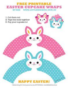 Free Printable Easter Cupcake Wraps