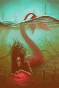 Swamp Mermaid by lostie815 Check out more Black Mermaids HERE!