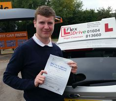 Driving Lessons in Wellingborough  Congratulations to Dale Kightley who passed his practical Driving Test today the 15th  September 2015, 1st time and with only 2 driving faults. Very well done and best wishes from your Driving Instructor Nigel and all of us here at Flexdrive Driving School.  Dale had driving lessons in Wellingborough with Flexdrive Driving School. #drivinglessons #learntodrive #wellingborough