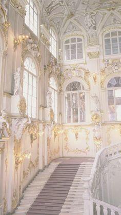 Aesthetic Pastel Wallpaper, Aesthetic Backgrounds, Aesthetic Wallpapers, Angel Aesthetic, Gold Aesthetic, Baroque Architecture, Beautiful Architecture, Architecture Wallpaper, Seattle Architecture