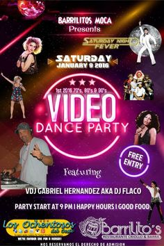 1st 2016 70's 80's & 90's Video Dance Party #sondeaquipr #videodanceparty #barrilitos #moca