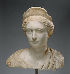 Bust of a Woman  Roman, about A.D. 130   Marble