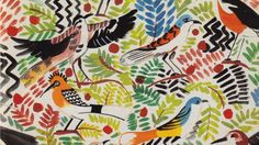 Susan Collier illustration for textile design