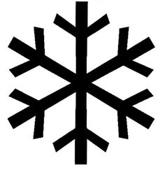 Simple Snowflake Silhouette snowflake silhouette -...
