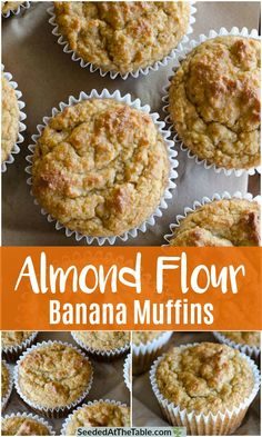 gluten free banana muffins These Almond Flour Banana Muffins are low-carb, gluten-free and include no refined sugars. The muffins are sweetened naturally with the bananas and almond flour and can be frozen for a convenient breakfast! Healthy Low Carb Recipes, Low Carb Desserts, Healthy Baking, Keto Recipes, Baking Desserts, Cake Baking, Easy Recipes, Cookie Recipes, Flours Banana Bread