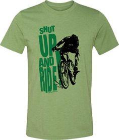 2717da4aa Bicycle T-shirt-Mountain Bike T-shirt Shut Up and by SpokeNwheelz Bike