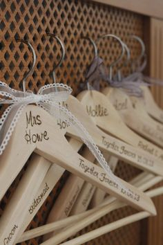 Personalised Hangers for that special occasion by DandelionCreationsLC Visit my Etsy shop to find out more.