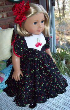 Fits American Girl doll or 18 inch doll. Doll dress by ASewSewShop, $22.00