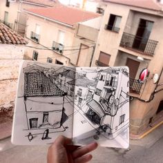 Sketched interpretation of a city block