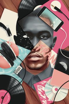 Frank Ocean editorial portrait STUNNER by Jack Hughes. Click HERE to see more art by Jack.