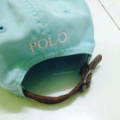 Vintage Polo Ralph Lauren Hat Cap Leather Adjustable by manicstore