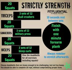 Strengthen all your major muscles groups. Plus click for more workouts.