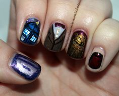 Doctor Who Nails by Samarium's Swatches, via Flickr