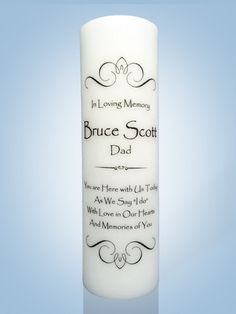 Personalized Wedding Memorial Candle