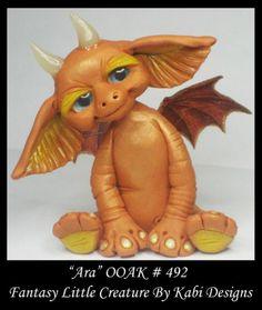 Fantasy Fairy Dragon Dollhouse Mini Art Doll Polymer Clay CDHM OOAK Iadr ARA Fae | eBay