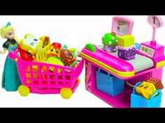 SHOPKINS Season 2 - Giant Play Doh Surprise with Donna Donut - Shopkins Baskets MLP - YouTube