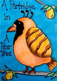 A PARTRIDGE IN A PEAR TREE  ACEO ON EBAY