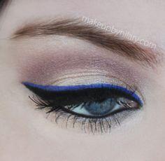 black & blue eyeliner