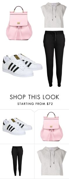 """Untitled #24"" by raneemalabdulkarim ❤ liked on Polyvore featuring adidas, Dolce&Gabbana and T By Alexander Wang"