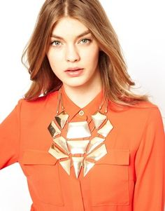 #Sleek Geo Bib Necklace