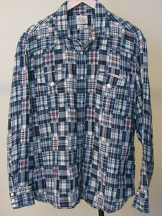 Mens WESTERN HERITAGE Snap-Up Shirt Black White Checks Plaid ROAR with Class!