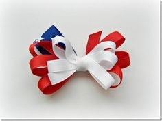 Flag Bow How-To by The Ribbon Retreat tutorial